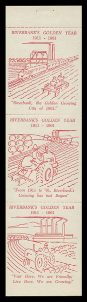 1961 Riverbank Poster Stamps