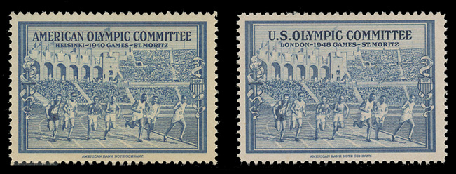 1940-1948 Olympic Labels